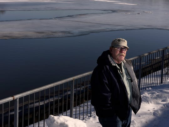 Hackensack Riverkeeper Bill Sheehan with the Hackensack River in the background. He petitioned the EPA to add the river as a Superfund site.