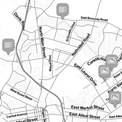Map of 2016 Salinas homicides