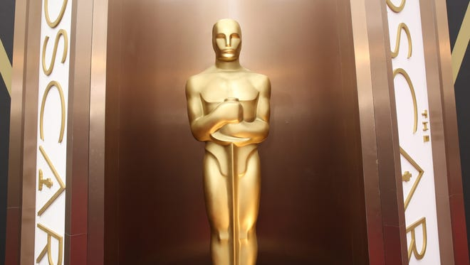 An Oscar statue appears at the Oscars at the Dolby Theatre in Los Angeles.