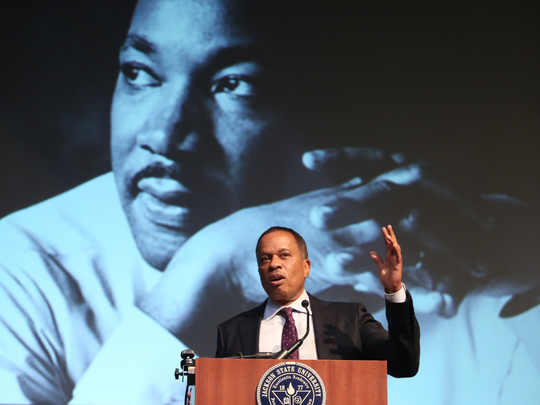 Journalist Juan Williams delivers the keynote address