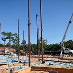 A volleyball facility is being built for William Carey's new volleyball team for the upcoming year.