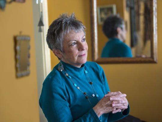 Jeanne Keller at home in Burlington on Friday, February