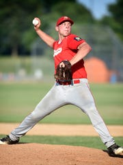 Myerstown's Cole Miller pitched admirably in relief in Thursday night's 5-4 loss to Campbelltown.
