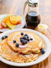 Iron Hen's blueberry pancakes.