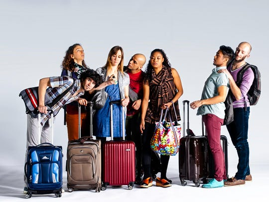 """The dance troupe Lucky Plush presents its airport-themed piece """"The Queue"""" Oct. 3."""