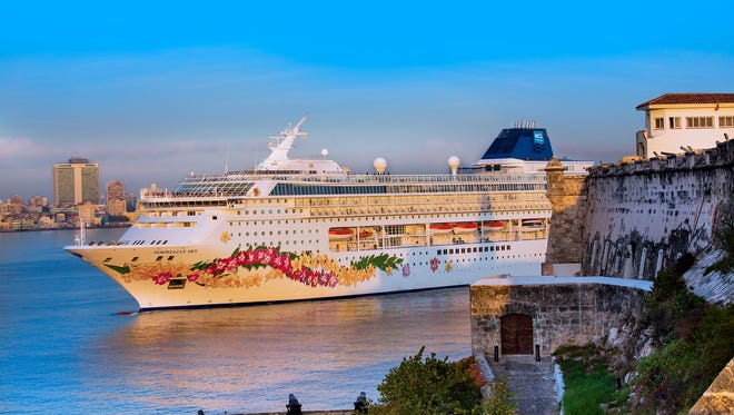 Shown here arriving in Cuba for the first time on May 2, 2017, Norwegian Sky is one of the line's oldest and smallest ships. It measures 77,104 gross tons and carries 2,004 passengers at double occupancy.