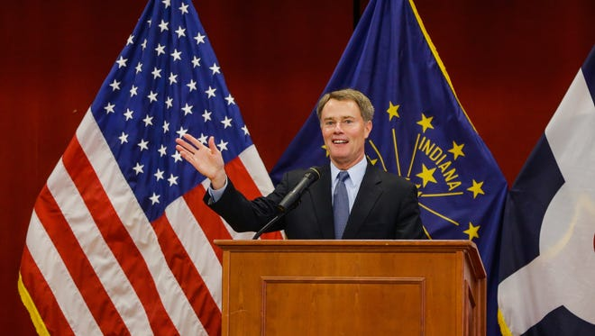 Indianapolis Mayor Joe Hogsett delivered his first State of the City address Wednesday, May 11, 2016, at the Christamore House on the west side.