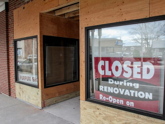 Purpuri Shoes on Main Street in Toms River is undergoing a renovation.