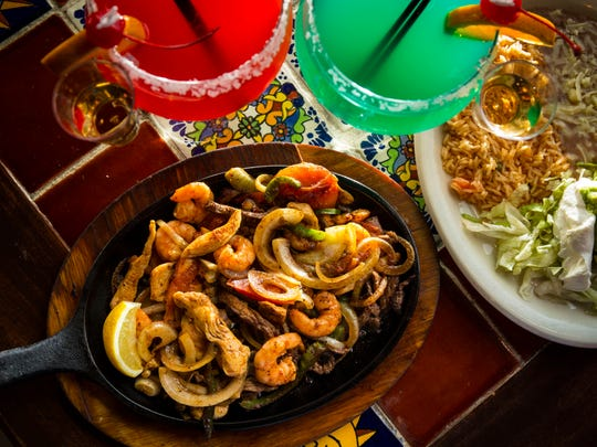Fajita trio at Cabo Sol.