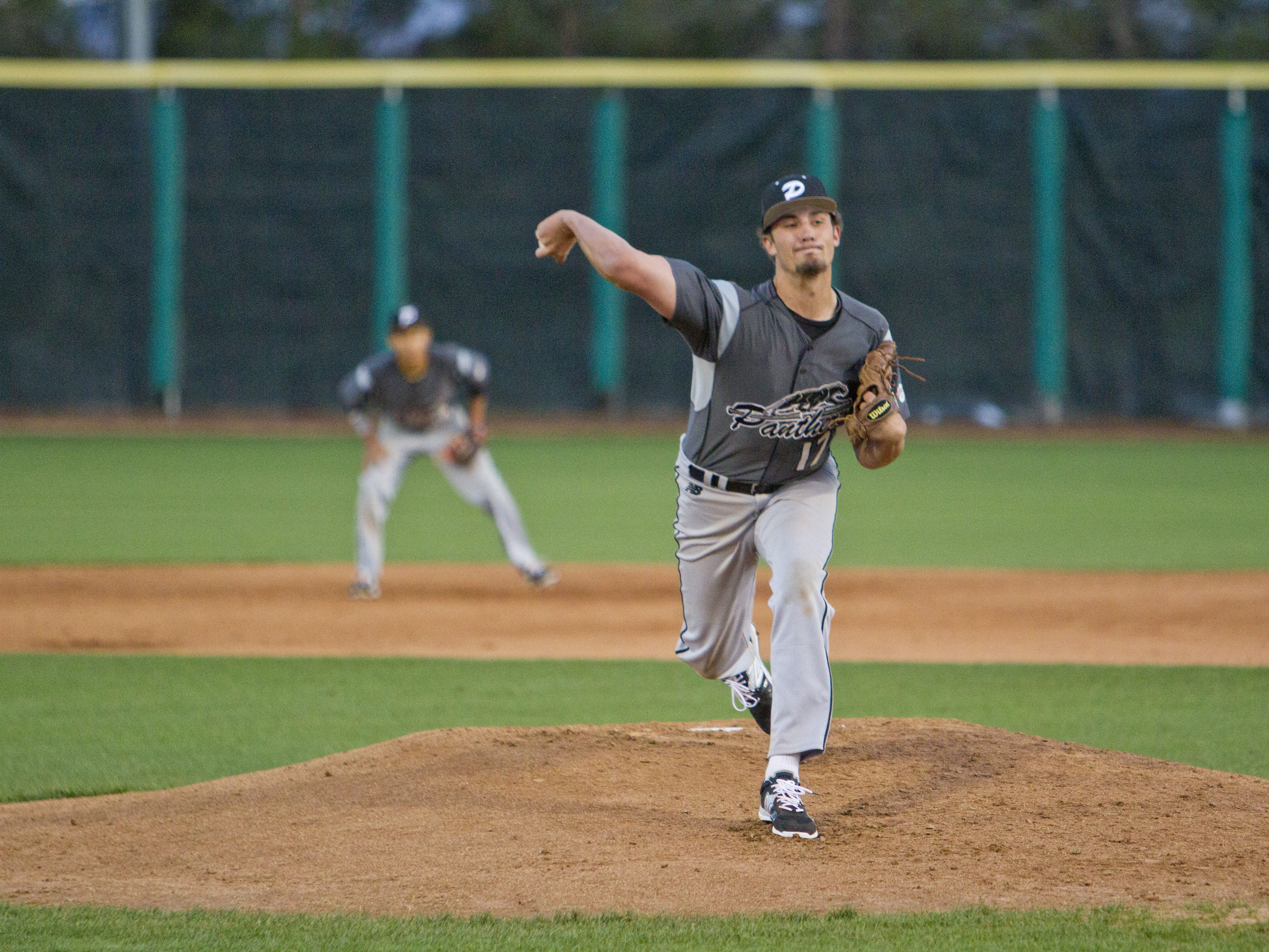 Pine View pitcher Dakota Donovan throws against Arbor View at Bruce Hurst Field on March 12.