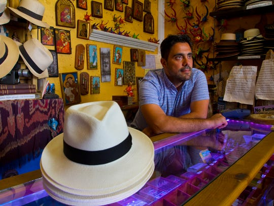 Gustavo Lerner is the owner of El Galpon, a store specializing in authentic Panama hats and local handmade artwork. The store is located in the Old San Juan historic district.
