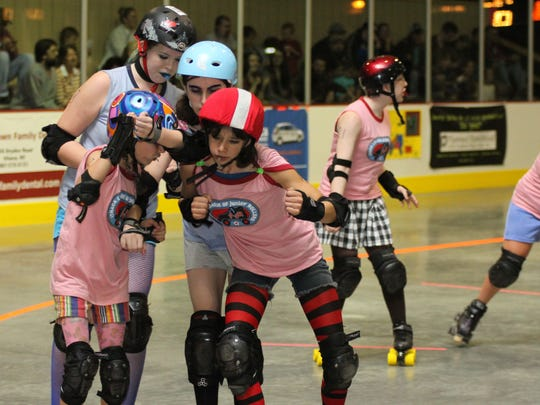 """Roller derby matches consist of two 30-minute halves. Each half has as many two-minute """"jams,"""" or bouts, as possible, with a 30-second break in between each bout."""