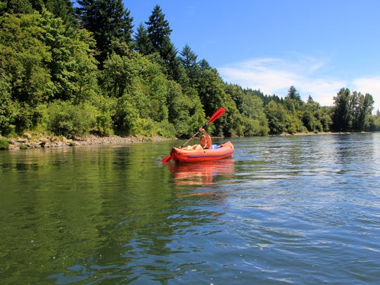A relaxing float can be found on the Willamette River between Independence's Riverview Park and Emil Marx/Lloyd Strange Fishing Hole.