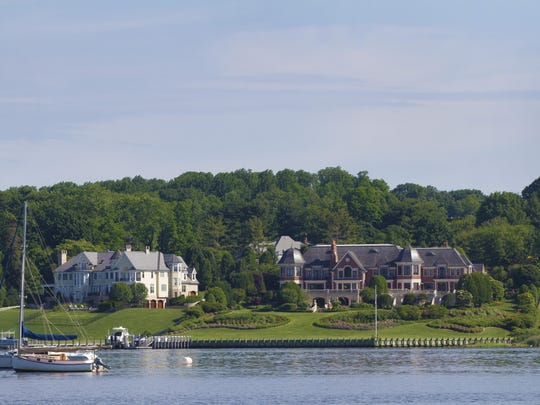 Kayaking the Navesink River affords great views of mansions like these.