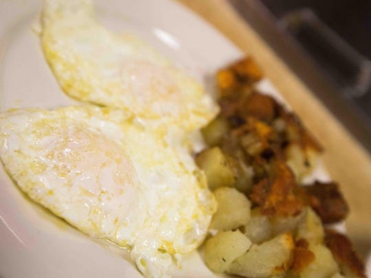 An order of eggs is readied at Arner's Restaurant on North Dupont Highway in New Castle on Thursday.