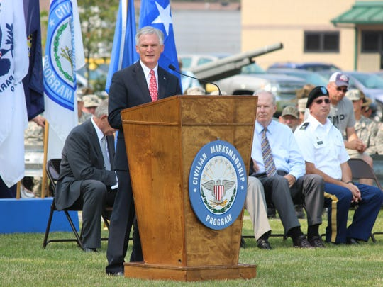 U.S. Rep. Bob Latta, R-Bowling Green, speaks at the First Shot Ceremony of the National Matches at Camp Perry.