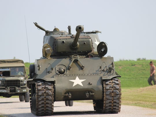 The Thunderbolt, a WWII M4 Sherman Tank, was demonstrated live at the First Shot Ceremony of the National Matches at Camp Perry.