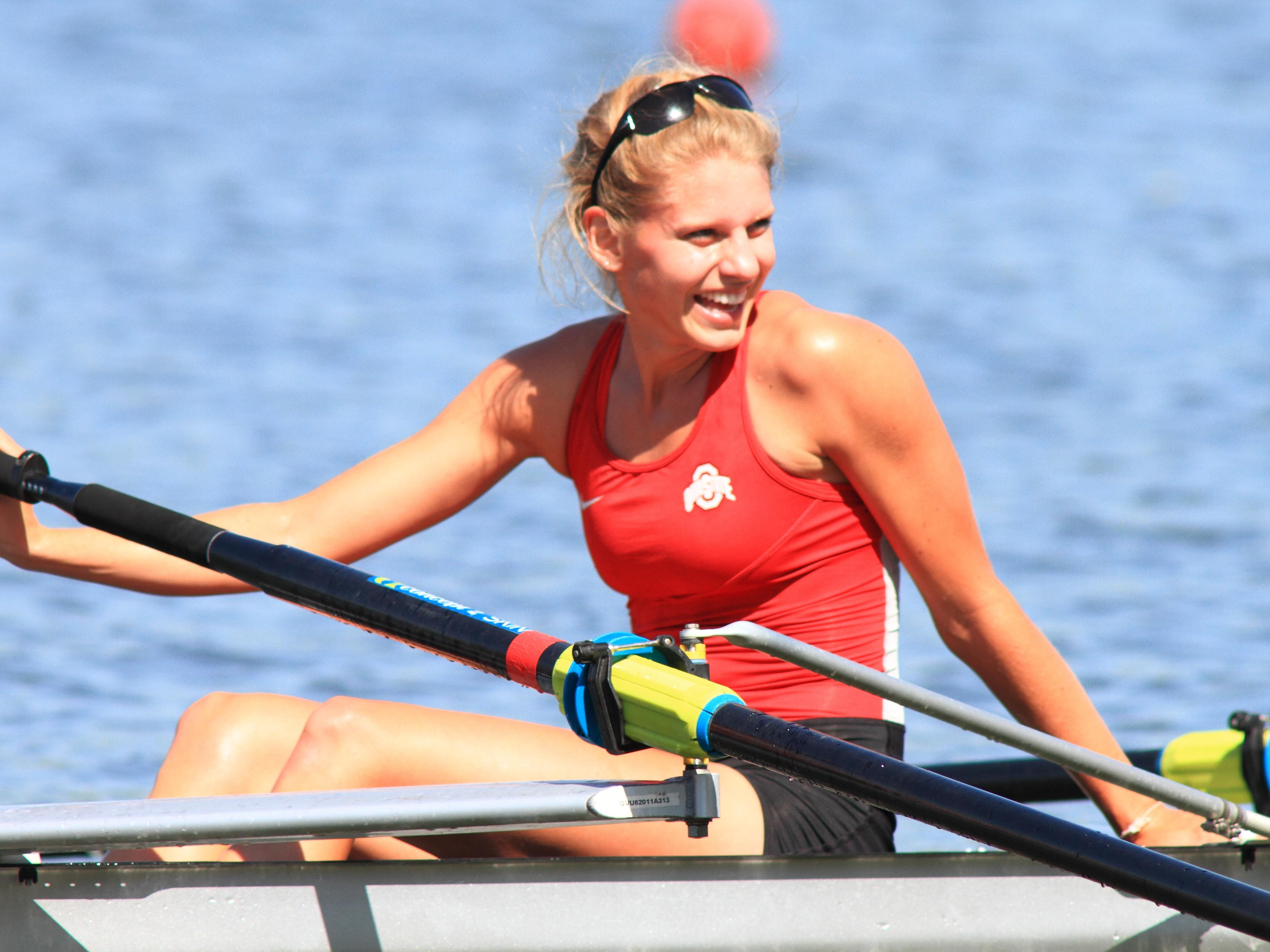 Mount Notre Dame graduate Chloe Meyer took part in The Ohio State University Rowing team's 2014 NCAA Rowing Championship in Indianapolis.