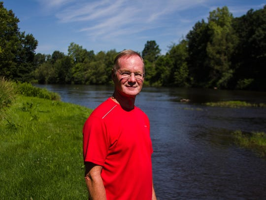 Lynn Gildea, a Marshall resident, has lived in his home next to the Kalamazoo River for 10 years.
