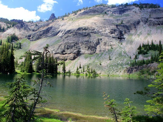 High Lake is in the Strawberry Mountain Wilderness.