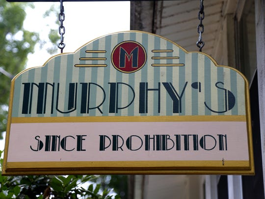 The sign outside Murphy's Tavern at 17 Ward Lane, Rumson.