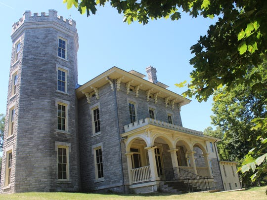 Cooke Castle was built by Jay Cooke in 1865 as a summer home on Gibraltar Island.