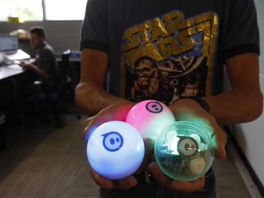Here are examples of Sphero's remote-controlled ball