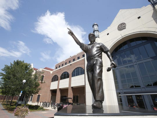 "A statue of Bobby Bowden by artist W. Stanley ""Sandy"""