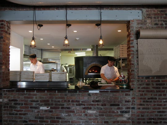 View of the open kitchen at B2 Bistro and Bar in Red Bank, NJ Thursday August 6, 2015.