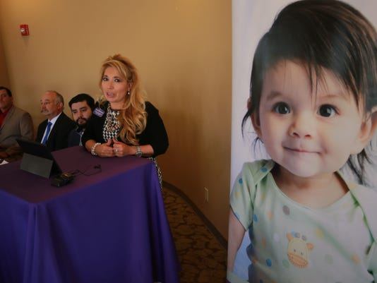 VICTOR CALZADA-EL PASO TIMES Sandra Gonzalez of the March of Dimes spoke about the organization's tie-in to the first annual Horizon City Wine Festival. The March of Dimes is one of the benefactors of the event.