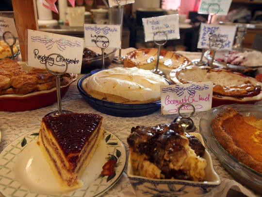 Sally Lunn's Tea Room and Restaurant serves homemade pies, pastries and desserts in addition to their famous scones.