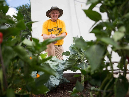 Konrad Kmetz, in the Duffy's Hope garden, is the project leader for Wilmington Healthy Corner Store Network, which encourages shops to offer healthy foods.