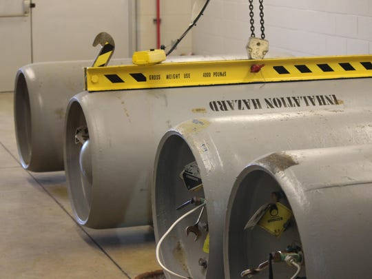 The Ottawa County Regional Water Treatment Plant maintains four 100-gallon tanks of chlorine for treating water.
