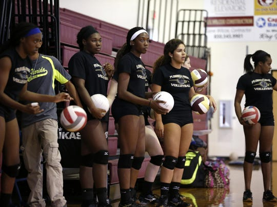 The Florida High volleyball team is young and learning new roles, but juniors Nylah Demps, Ta'Korya Green and Brandi McGee are training the underclassmen.