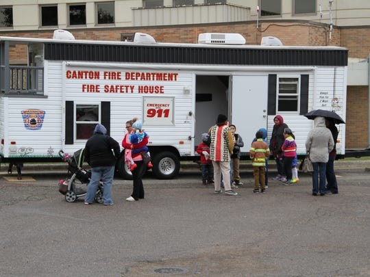 Children got to learn about fire safety during the tour.