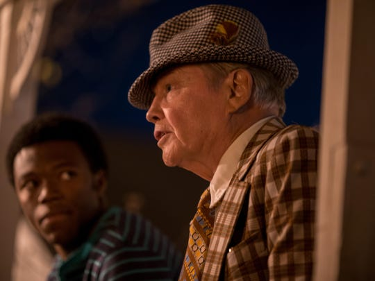 """Jon Voigt stars as Bear Bryant in """"Woodlawn."""" Also pictured is Caleb Castille as Tony Nathan. The movie is produced by Visalia's Kevin Downes."""