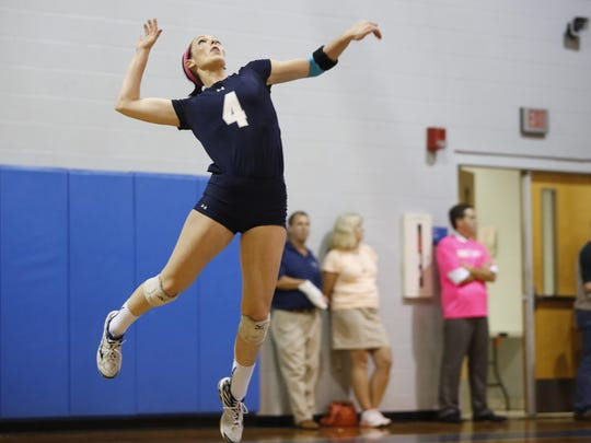 Maclay's Siena Kole serves against P.K. Yonge in their Region 1-3A final home game on Tuesday. Kole, a starter since the eighth grade at 14 assists in a loss to the No. 5 national Blue Wave.