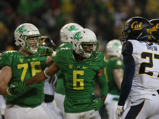 NCAA Football: California at Oregon