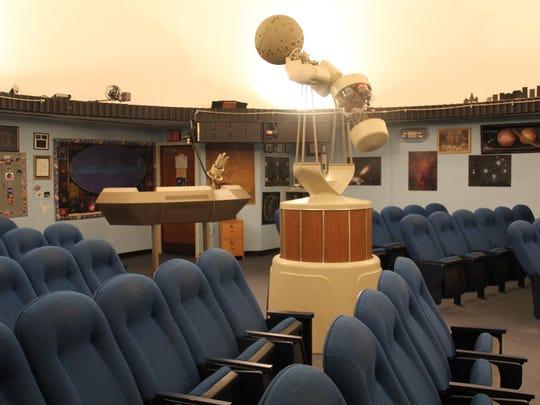 The Lenape Valley High School Planetarium seats 53 persons.