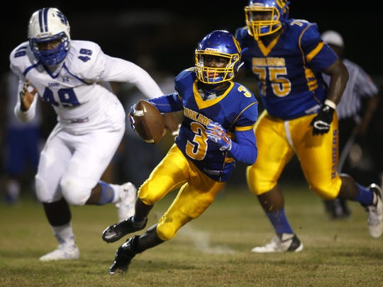 Rickards sophomore Marcus Riley threw for 316 yards and five touchdowns and rushed for 219 yards and two touchdowns in a 49-42 win over Godby in October, giving the Raiders a city championship.