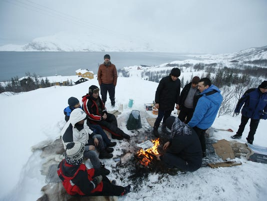 Norway Migrants In The Cold