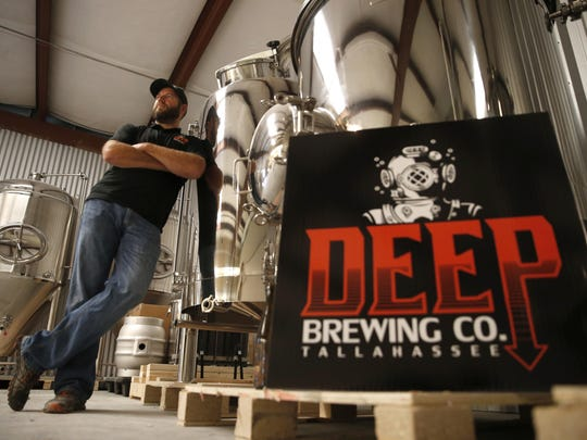 Ryan LaPete, stands inside his brewery, Deep Brewing Co., on Tuesday, Feb. 23, 2016. LaPete, who has been home brewing since 2013 and says he has experimented with hundreds of beer varieties, is hoping to open his brewery to the public in May of this year.