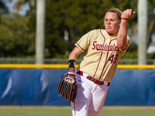 FSU pitcher Meghan King threw a perfect game against Tulsa the program's first since 2004.