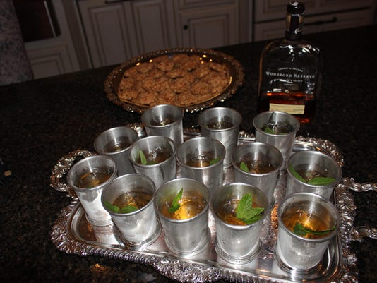 Woodford Reserve Mint Juleps paired with Cheese Wafers
