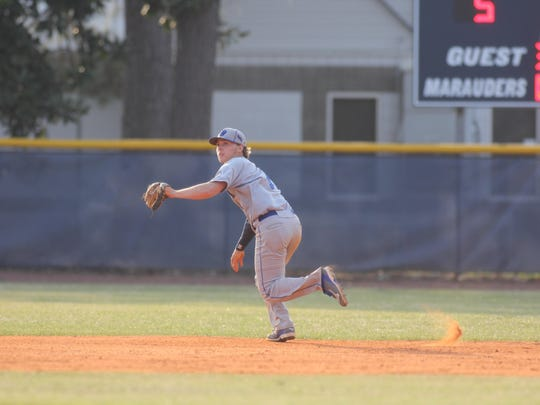 Godby's Logan Lacey (4-0) threw a complete-game, one-hit