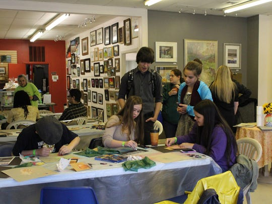 Students participate in one of the drawing classes held at the Hammonton Arts Center.