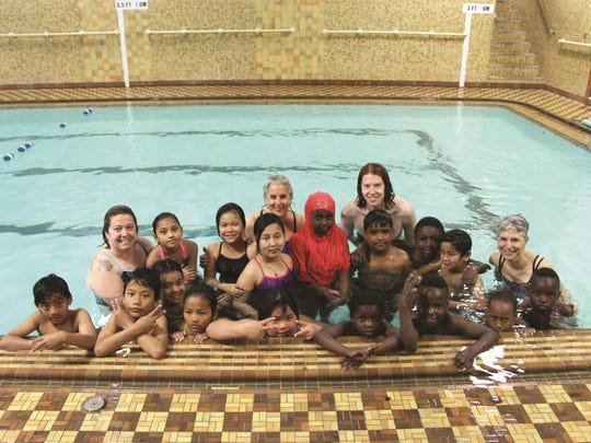 A class of New Americans from the Integrated Arts Academy are shown after wrapping up a series of swim lessons at the Greater Burlington YMCA in this Free Press file photo.