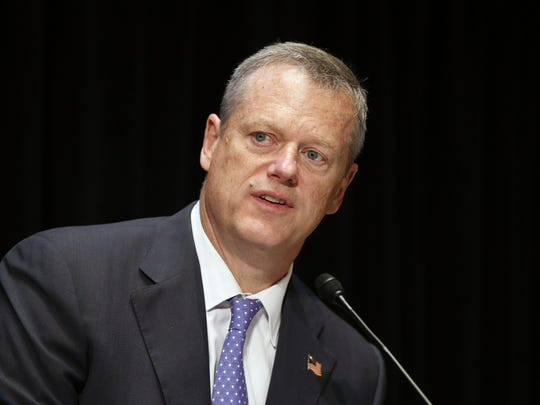 Massachusetts Gov. Charlie Baker speaks during an opioid abuse conference Tuesday, June 7, 2016, in Boston. (AP Photo/Michael Dwyer)