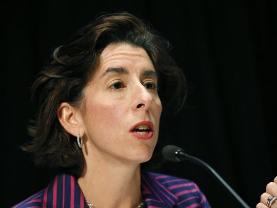 Rhode Island Gov. Gina Raimondo speaks during an opioid abuse conference Tuesday, June 7, 2016, in Boston. (AP Photo/Michael Dwyer)