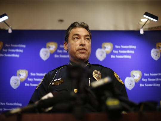 Police Chief Michael DeLeo gave city commissioners and update on the efforts to combat crime in Tallahassee at  Wednesday's meeting.
